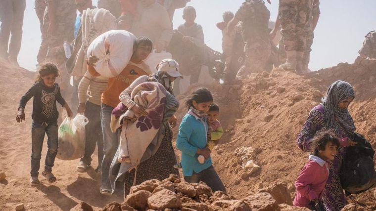 La complicada situación de los refugiados sirios
