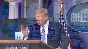 Las palabras de Trump sobre el detergente y la lejía contra el Covid-19 llevan a más de un centenar de personas al hospital