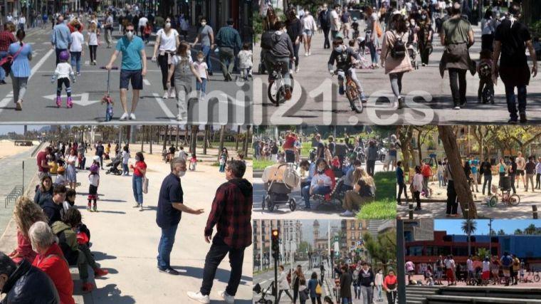 Los niños abarrotan las calles: Medio centenar de imágenes que desmontan a Sanidad e indignan a España