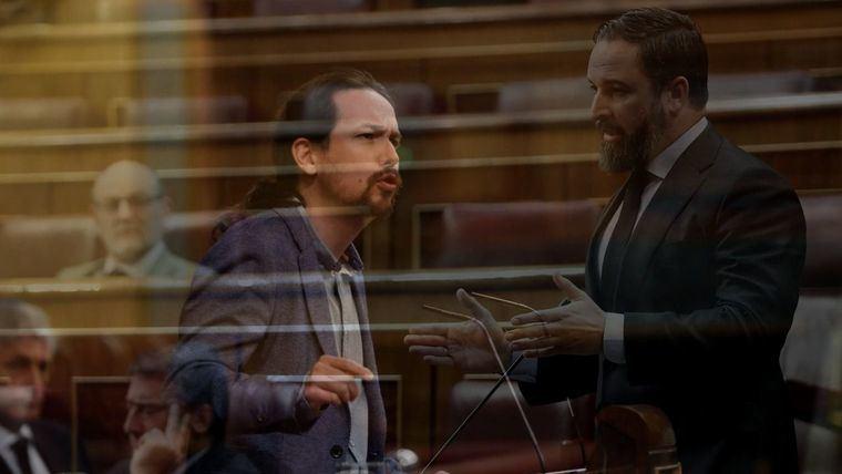 """Tenso desencuentro entre Pablo Iglesias y Vox: """"Ustedes no son ni siquiera fascistas, son parásitos"""""""