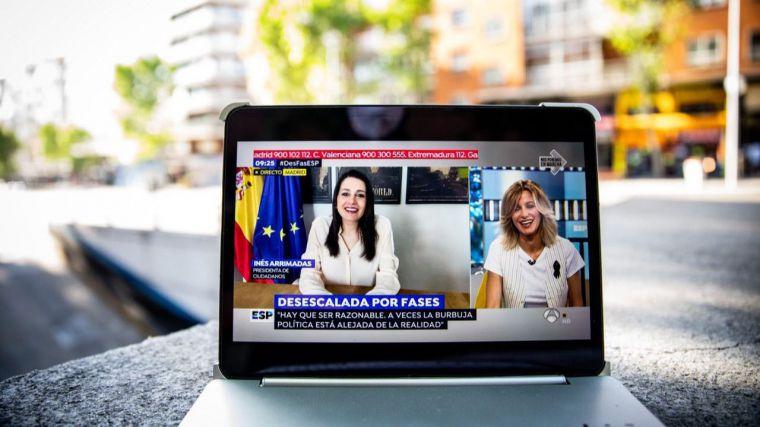 Inés Arrimadas critica los errores de Pedro Sánchez y alardea de que 'gracias a nuestra negociación se ven cambios en el Gobierno'