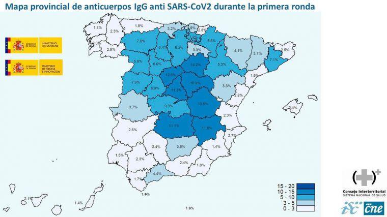 El estudio de seroprevalencia desvela que solo un 5% de la población española ha pasado ya el COVID-19