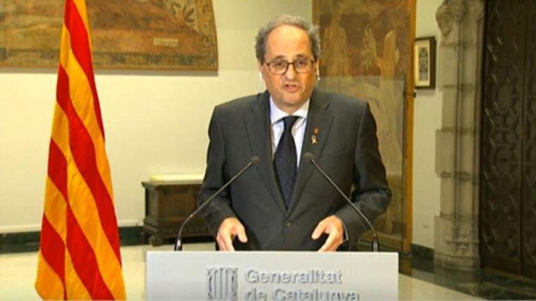 Torra chantajea al Gobierno imponiendo el mandato único en Cataluña a cambio de más estados de alarma