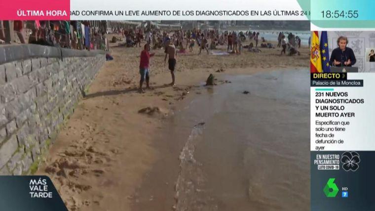 [VÍDEO] Agreden en directo un periodista de laSexta en la Playa de la Concha de San Sebastián al confundirle con un mirón