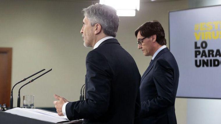 """El Gobierno cierra filas con Marlaska y Montero acusa a PP, Cs y Vox de estar instalados en el """"marco mental de la conspiración"""""""
