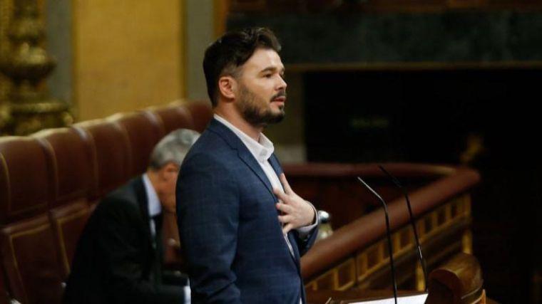 Rufián fija su objetivo en Ciudadanos: Considera que es 'Vox en la fase uno' y que Arrimadas es 'Rosa Díez en fase dos'