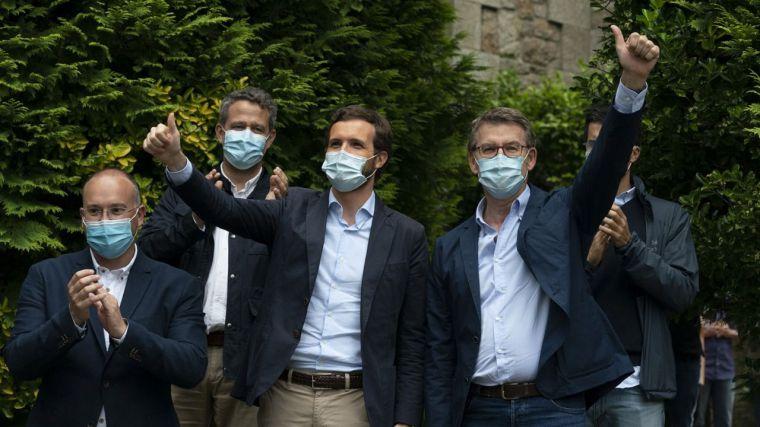 Feijóo saca pecho y no duda en apelar a los votantes del PSOE, Cs y Vox para lograr la mayoría absoluta