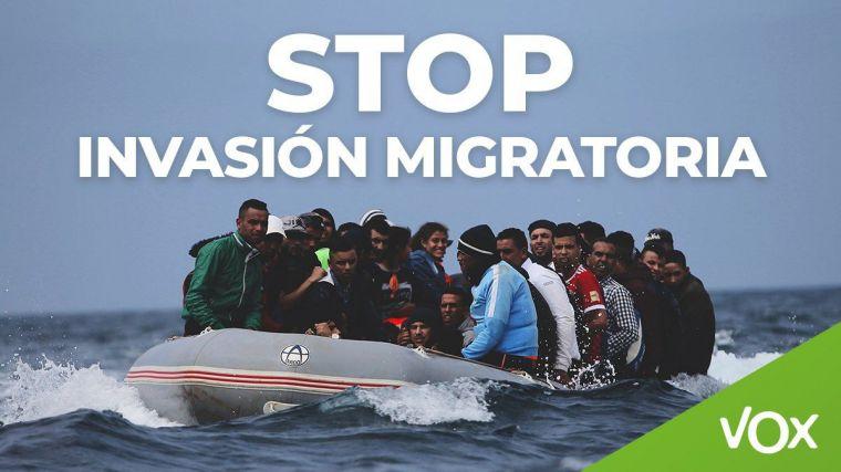 Abascal alerta de la mayor oleada de llegadas de inmigrantes ilegales a nuestro país en años