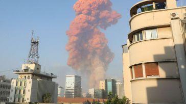 Pánico en Beirut tras una enorme explosión: