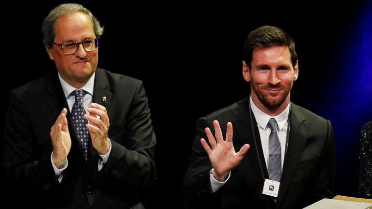El FC Barcelona muestra su apoyo al 'Molt Honorable President de la Generalitat', Joaquim Torra