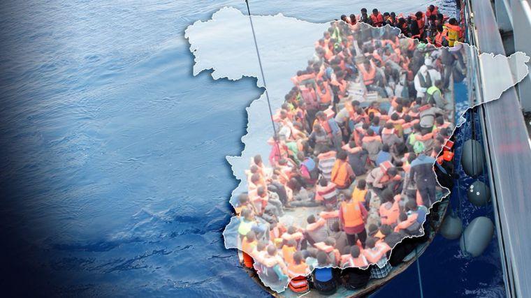 Más de 5.000 ilegales acuden al 'efecto llamada' del Gobierno social-comunista en un mes