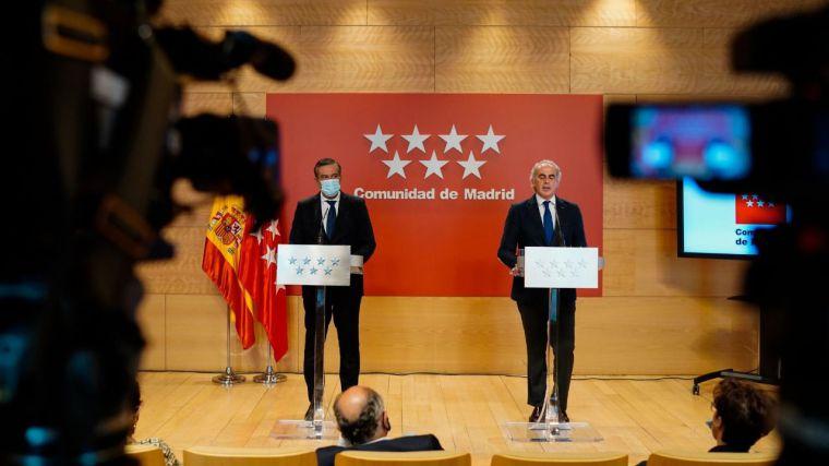 Sánchez e Iglesias cierran Madrid por la fuerza y el Ejecutivo regional solicita medidas cautelares por
