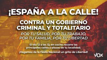 Órdago de Vox a Sánchez: 'Españoles, a la calle'