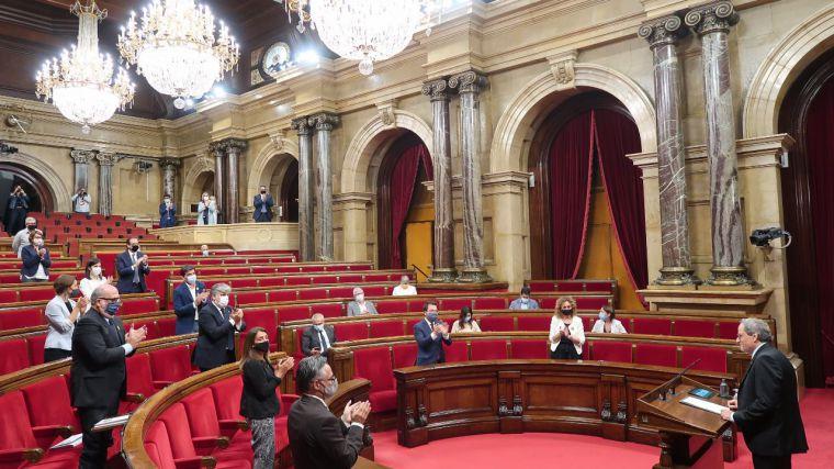 Condenados cuatro ex miembros de la Mesa del Parlamento catalán por desobediencia
