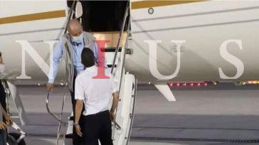 Juan Carlos I a su llegada el lunes 3 de agosto a Abu Dabi.