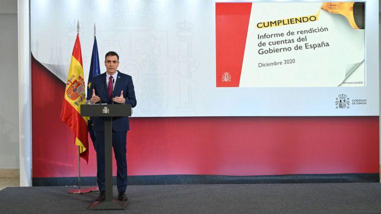 Sánchez pide confianza en su rendición de cuentas tras un año de gestión catastrófica