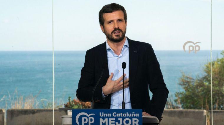 Casado: 'Todos sabemos que el PSC acabará pactando con ERC, como siempre'