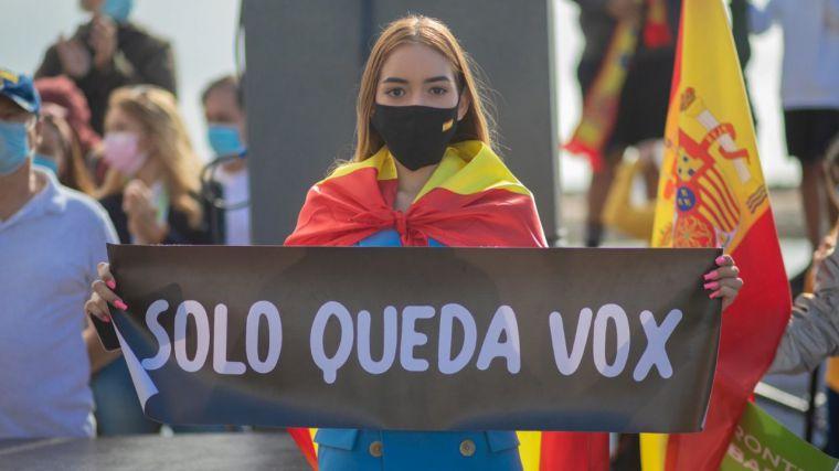 Abascal: 'El Gobierno de Sánchez se ha caracterizado por apoyarse por el comunismo totalitario'