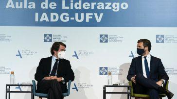 Casado reivindica el papel de Aznar y afirma que 'España necesita ya un cambio'