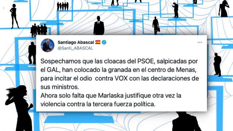 El Tribunal Supremo inadmite una querella del PSOE contra Santiago Abascal por calumnias