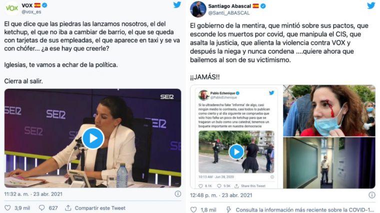 Abascal sobre el 'victimismo' de Iglesias tras marcharse del debate