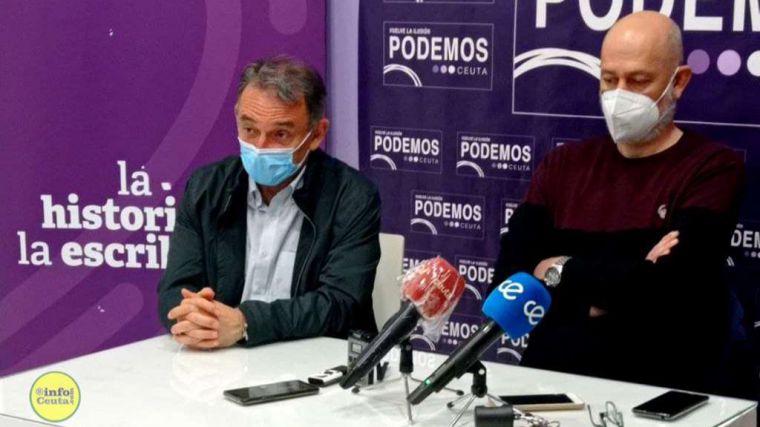 Rifirrafe en la inauguración de la sede de Podemos en Ceuta