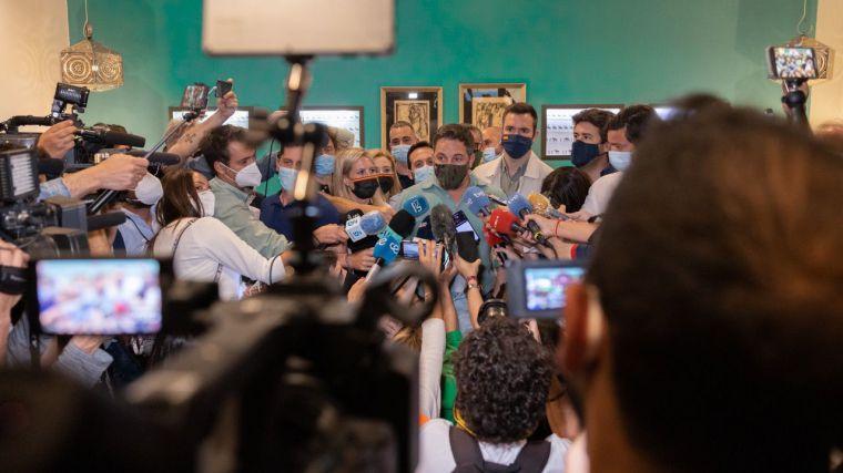 Santiago Abascal y su recado al Gobierno por los indultos: