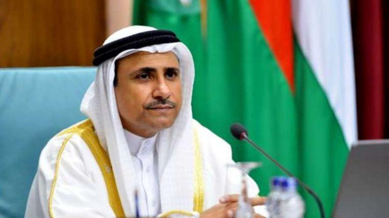 Presidente del Parlamento Árabe, Adel Bin Abdul Rahman Al-Asoomi