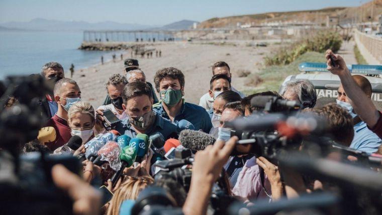 VOX registra una propuesta para revocar la declaración de Abascal como persona 'non grata' en Ceuta