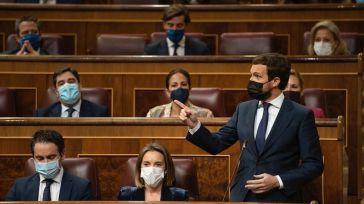 Casado pone contra las cuerdas a Sánchez: '¿Es usted la X del 'Caso Ghali'? ¿Ordenó falsear las previsiones del INE?'