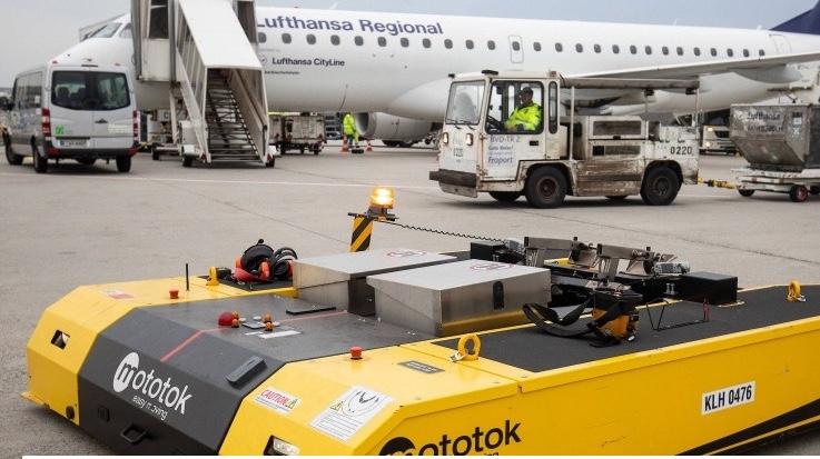 El aeropuerto de Frankfurt está probando un nuevo tipo de remolcador