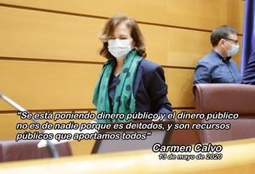 Carmen Calvo admite el