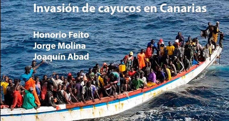 Invasión de cayucos en las Islas Canarias