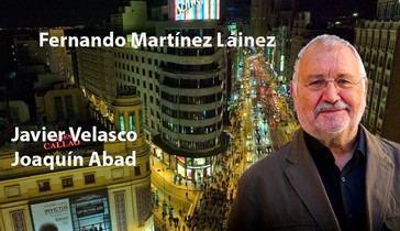 Con el autor de El Declive, Fernando Martínez Láinez