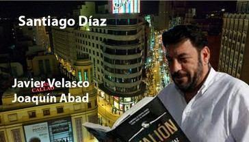 Con el autor de 'El buen padre', Santiado Díaz