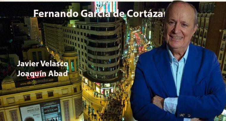 Con Fernando García de Cortázar