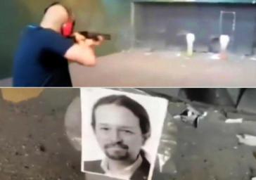 Se graba disparando contra fotos de miembros del Gobierno... y acaba detenido