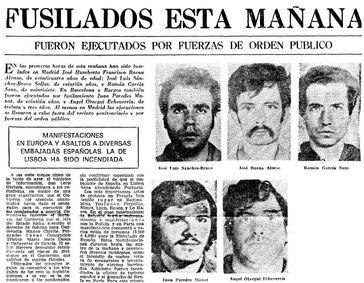 42 años después de su disolución el FRAP revive como primer TT en España por la riña entre Álvarez de Toledo e Iglesias