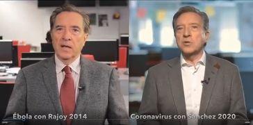 Iñaki Gabilondo en el 2014 y el actual con el coronavirus