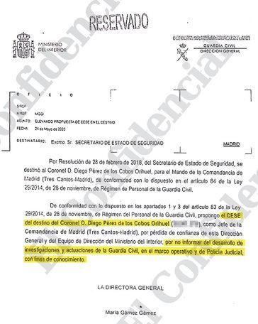 Marlaska ha mentido: Ni reestructuración ni 'pérdida de confianza', cesó a Pérez de los Cobos por negarse a filtrar las diligencias sobre el 8-M