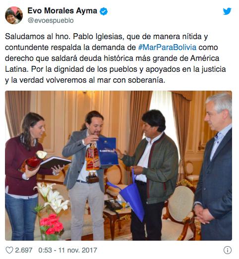 Los contratos millonarios que catapultaron a Evo Morales al poder y que salpican a Iglesias, Garzón, Zapatero y Errejón, entre otros
