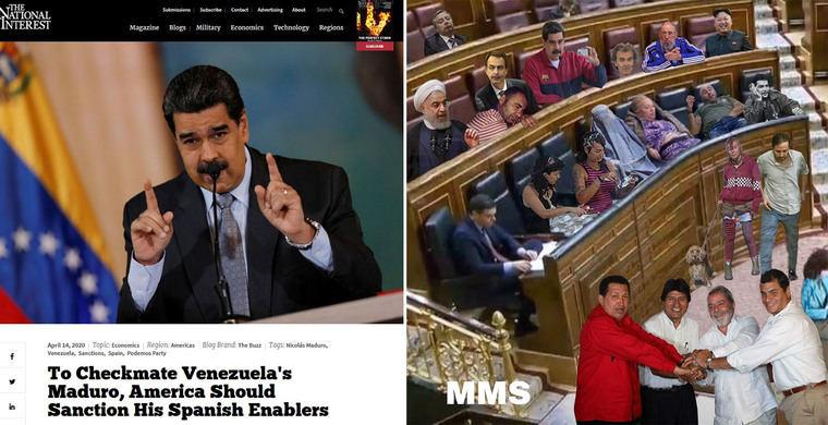El National Interest acusa al gobierno de España de conducir la droga de Maduro por Europa y a Podemos-PSOE de ser el principal aliado