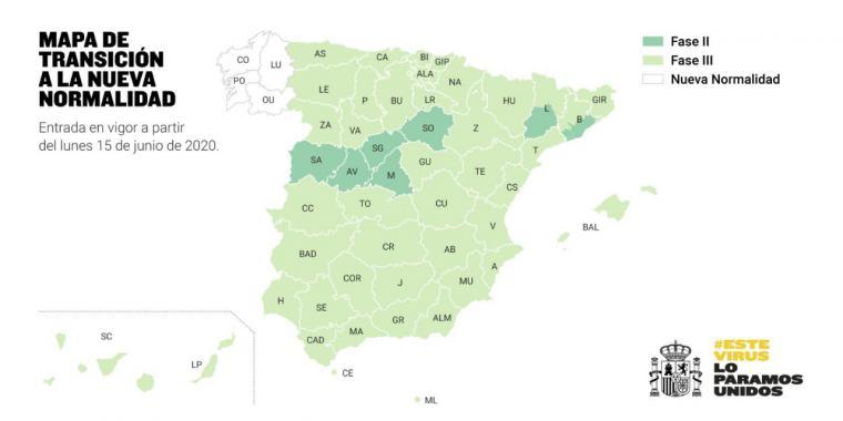 ¿En qué fase estará mi provincia a partir del próximo lunes? Sólo Galicia avanza hacia la 'nueva normalidad'
