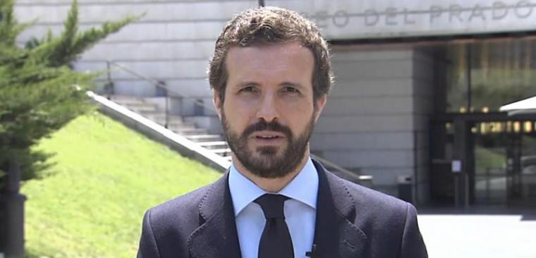 Casado reivindica una 'gestión eficaz' ante los fondos europeos para que su coste 'no recaiga en nuestros hijos'