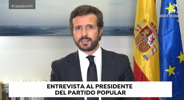 """Casado tacha de """"plan de descalabro"""" la propuesta de Sánchez, """"un sudoku que nadie entiende"""""""