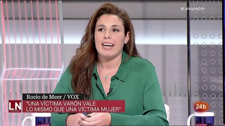 Una de las apariciones más controvertidas de la diputada de Vox en televisión