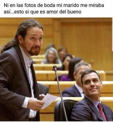 La red se mofa de la unión de Pedro Sánchez y Pablo Iglesias