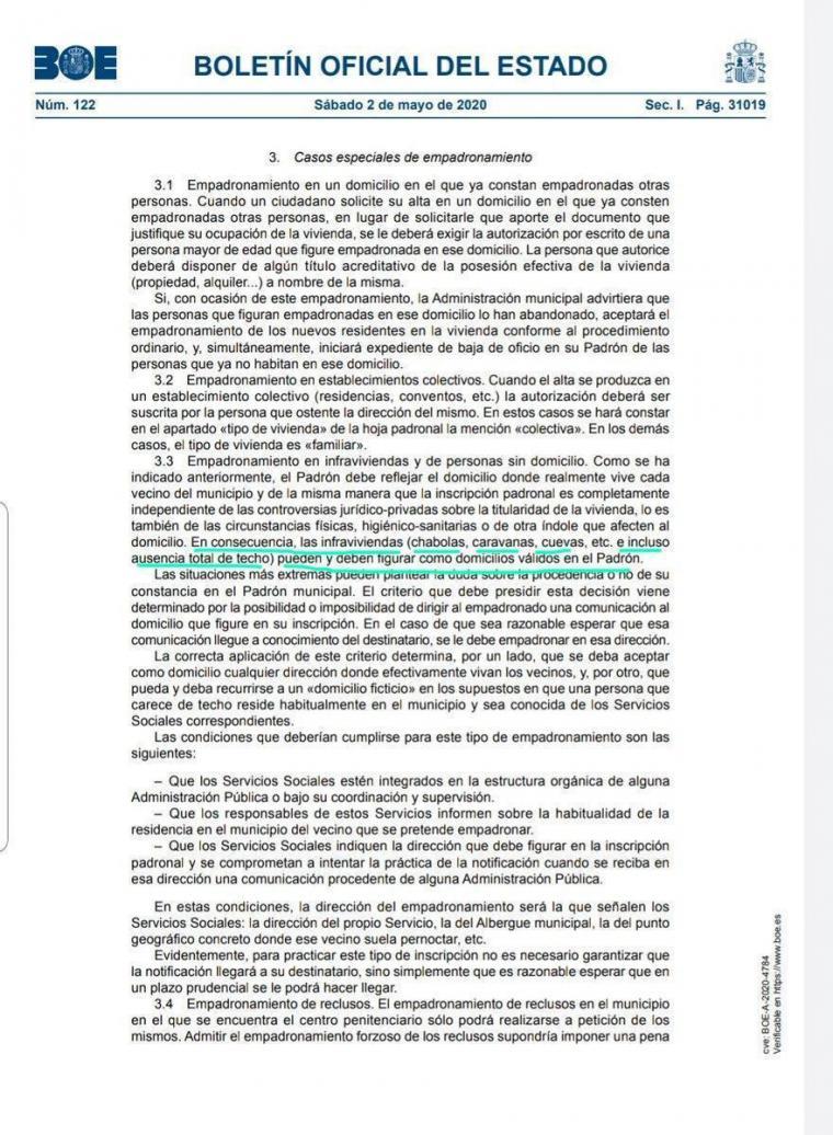 Barra libre a los 'okupas' para poder cobrar el ingreso mínimo vital de Pablo Iglesias