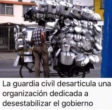 Las cacerolas contra el gobierno de Pedro Sánchez y Pablo Iglesias llega al humor en las redes