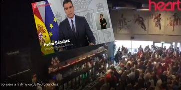 Ingenioso montaje simulando que Pedro Sánchez dimite de presidente del Gobierno